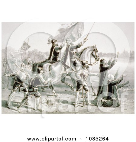 The Discovery of the Mississippi By De Soto, and his Followers - Royalty Free Stock Illustration by JVPD