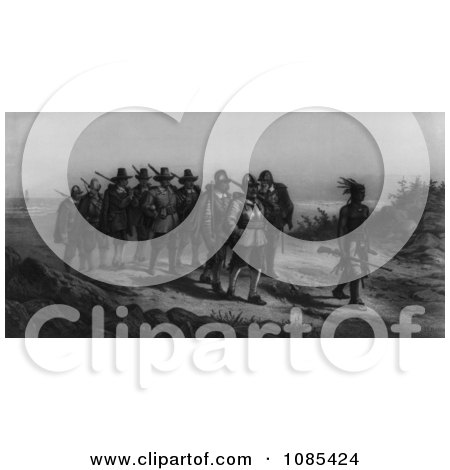 The March of Miles Standish - Free Historical Stock Illustration by JVPD