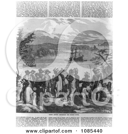 Henry Hudson Descending the Hudson River - Free Historical Stock Illustration by JVPD