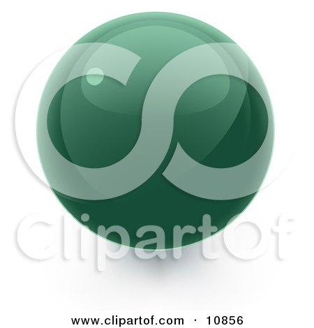Green 3D Sphere Internet Button Posters, Art Prints