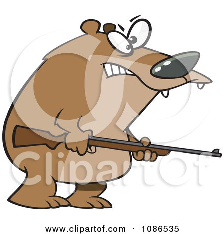Clipart Armed Bear - Royalty Free Vector Illustration by toonaday