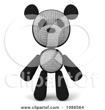 Clipart 3d Stuffed Panda Teddy Bear - Royalty Free CGI Illustration by Julos