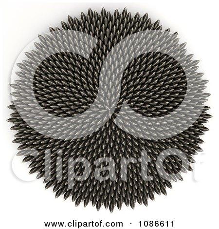 Clipart 3d Sunflower Seed Fibonacci Golden Ratio Circle - Royalty Free CGI Illustration by Leo Blanchette