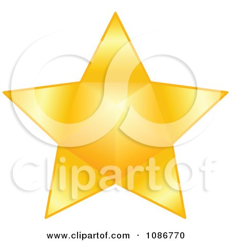 Clipart Golden Star 4 - Royalty Free Vector Illustration by yayayoyo
