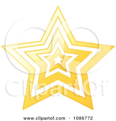 Clipart Golden Star Vortex - Royalty Free Vector Illustration by yayayoyo