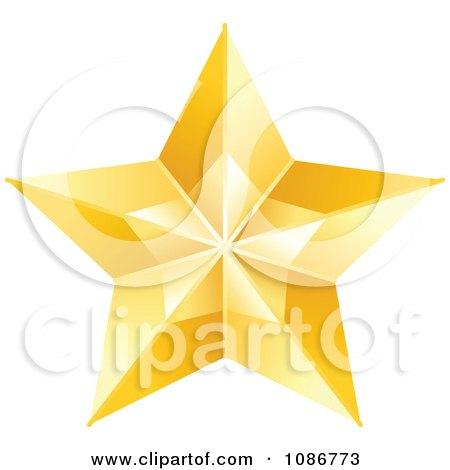 Clipart Golden Star 1 - Royalty Free Vector Illustration by yayayoyo