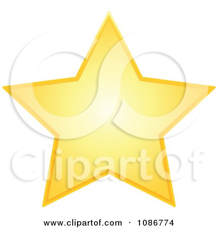 Clipart Golden Star 2 - Royalty Free Vector Illustration by yayayoyo