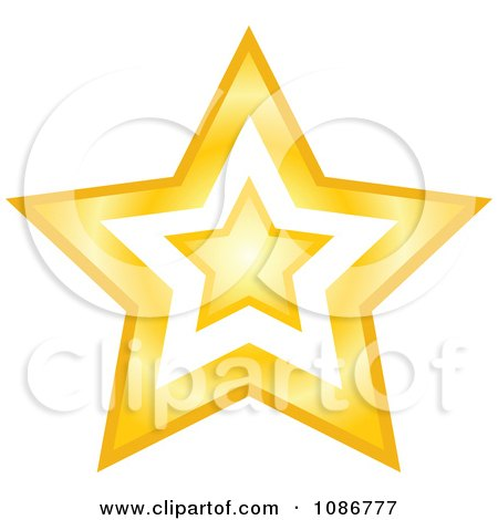 Clipart Golden Star With A Cut Out Center 2 - Royalty Free Vector Illustration by yayayoyo