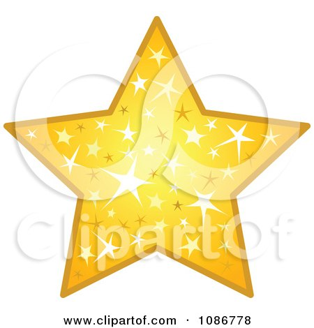 Clipart Golden Sparkling Star - Royalty Free Vector Illustration by yayayoyo
