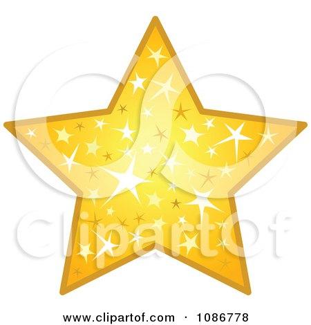 Golden Sparkling Star Posters, Art Prints