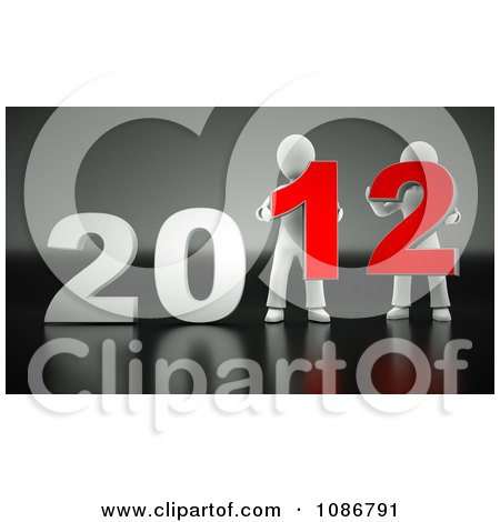 Clipart 3d People Holding 2012 - Royalty Free CGI Illustration by chrisroll