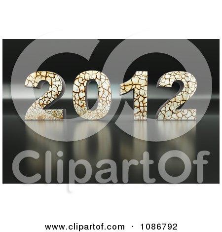 Clipart 3d Cracking 2012 - Royalty Free CGI Illustration by chrisroll