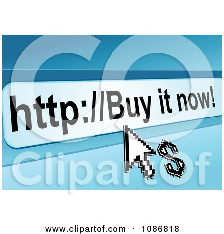 Clipart Buy It Now Url Bar With A Dollar And Arrow Cursor - Royalty Free Vector Illustration by Vector Tradition SM