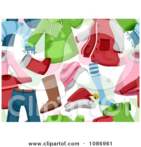 Background Of Christmas Clothing Royalty Free Vector Illustration