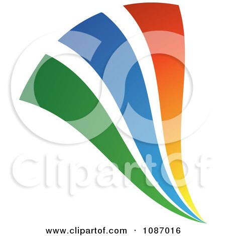 Clipart Green Blue And Orange Swooshes - Royalty Free Vector Illustration by TA Images