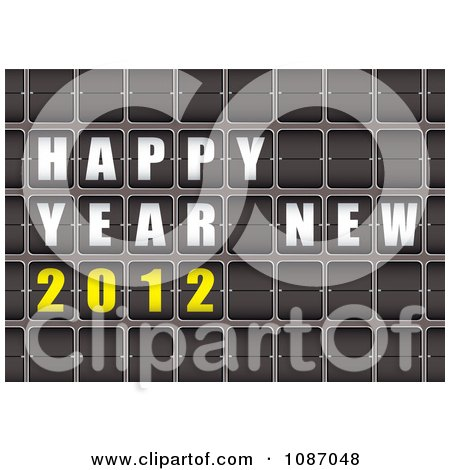 Free  Years Wallpapers 2012 on Clipart 3d Happy New Year 2012 Flip Sign   Royalty Free Vector