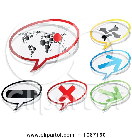 Clipart Icon Chat Balloons - Royalty Free Vector Illustration by Andrei Marincas