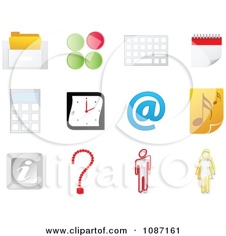 Clipart Office Website Icons - Royalty Free Vector Illustration by Andrei Marincas