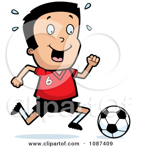 Athletic Boy Playing Soccer Posters, Art Prints