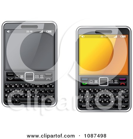 Clipart 3d Smart Cell Phones With Key Pads - Royalty Free Vector Illustration by Vector Tradition SM