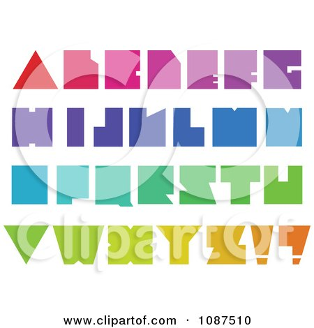 Clipart Colorful Blocky Capital Letters - Royalty Free Vector Illustration by yayayoyo