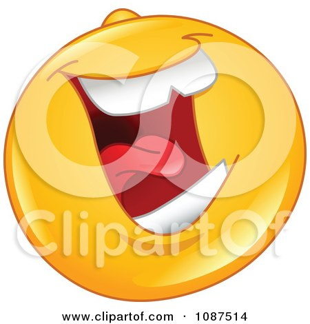 Clipart Laughing Emoticon Smiley Face - Royalty Free Vector Illustration by yayayoyo