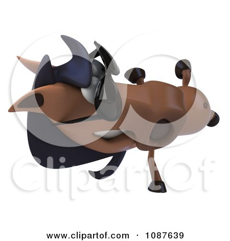 Clipart 3d Cartwheeling Charlie Horse Wearing Sunglasses - Royalty Free CGI Illustration by Julos