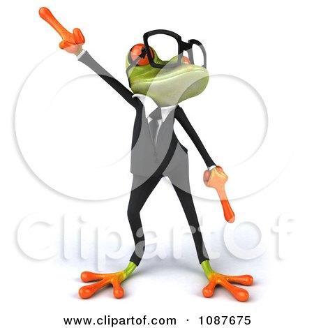 Clipart 3d Business Springer Frog Dancing A Jig 1 - Royalty Free CGI Illustration by Julos