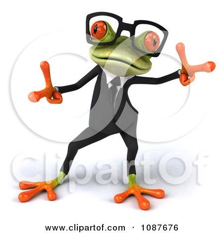 Clipart 3d Business Springer Frog Dancing A Jig 2 - Royalty Free CGI Illustration by Julos