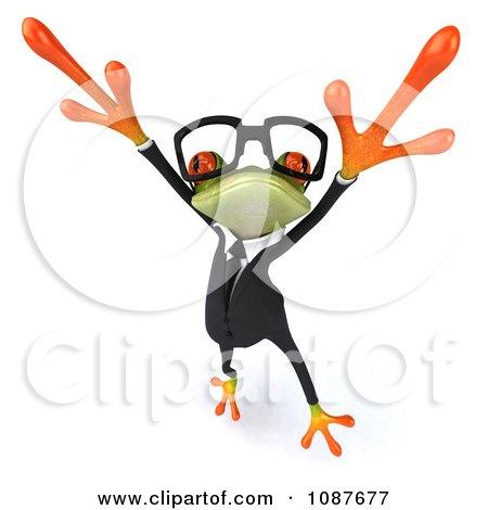 Clipart 3d Business Springer Frog Dancing A Jig 3 - Royalty Free CGI Illustration by Julos