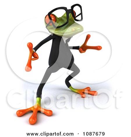 Clipart 3d Business Springer Frog Dancing A Jig 5 - Royalty Free CGI Illustration by Julos