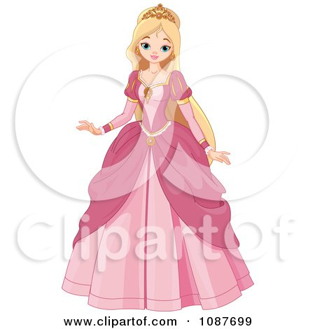 Beautiful Blond Princess In A Pink Gown Posters, Art Prints