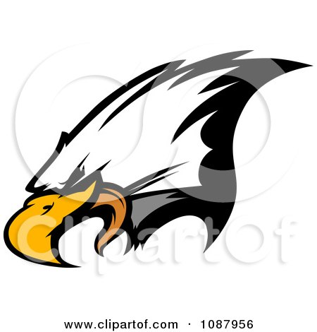 Clipart Mascot Bald Eagle Face - Royalty Free Vector Illustration by Chromaco