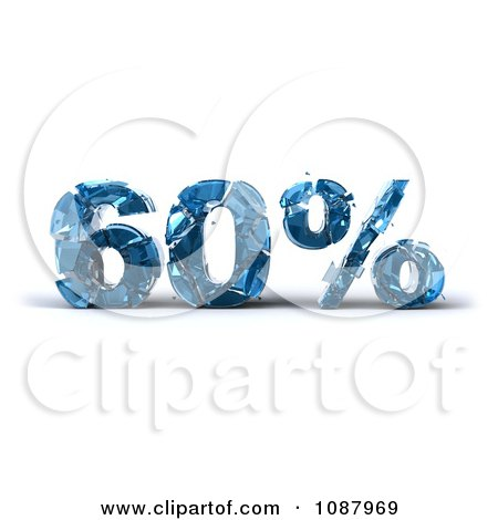 Clipart 3d Shattering Glass 60 Percent Discount - Royalty Free CGI Illustration by Julos