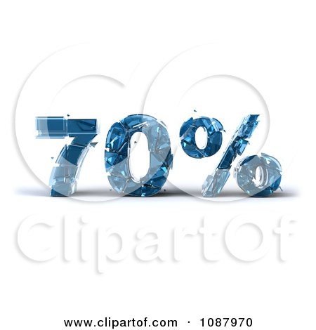 Clipart 3d Shattering Glass 70 Percent Discount - Royalty Free CGI Illustration by Julos