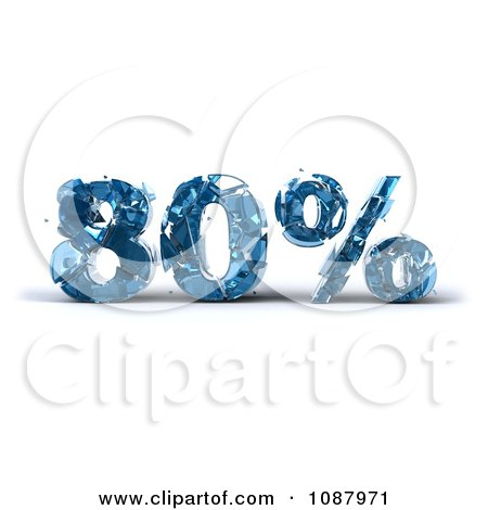 Clipart 3d Shattering Glass 80 Percent Discount - Royalty Free CGI Illustration by Julos