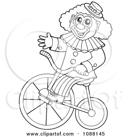 Royalty Free Rf Clown Outline Clipart Illustrations