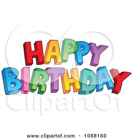 Clipart Happy Birthday Greeting - Royalty Free Vector Illustration by visekart