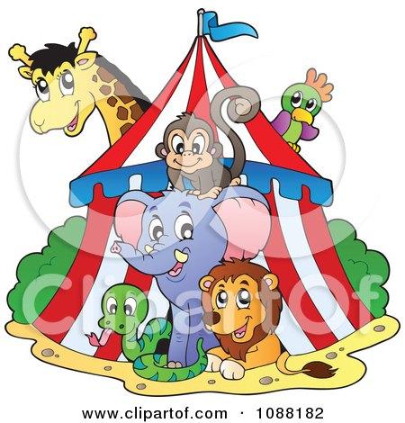 Big Top Circus Tent And Animals Posters, Art Prints