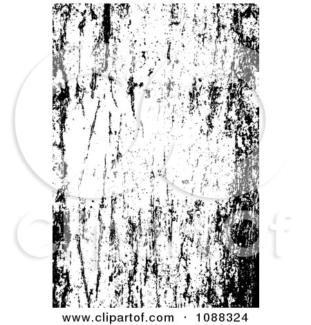 Clipart Black And White Scratched Grunge Overlay - Royalty Free Vector Illustration by BestVector