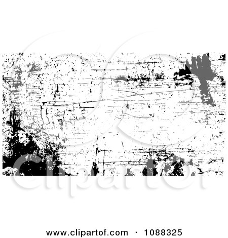 Clipart Black And White Rusty Grunge Overlay - Royalty Free Vector Illustration by BestVector