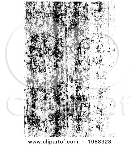 Clipart Black And White Peeling Paint Grunge Overlay - Royalty Free Vector Illustration by BestVector