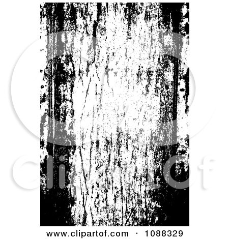 Clipart Black And White Wood Panel Grunge Overlay - Royalty Free Vector Illustration by BestVector