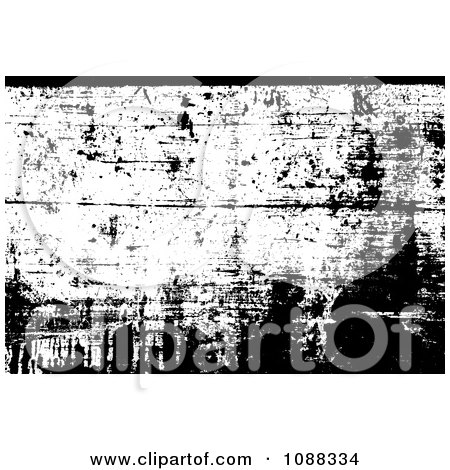 Clipart Black And White Wooden Grunge Overlay - Royalty Free Vector Illustration by BestVector