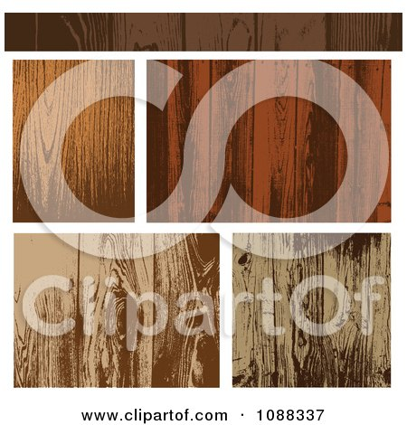 Clipart Wooden Plank Textures - Royalty Free Vector Illustration by BestVector
