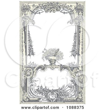 Vintage Victorian Frame With A Floral Urn Posters, Art Prints