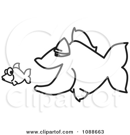 Clipart squiggle big fish chasing a little fish royalty free clipart squiggle big fish chasing a little fish royalty free vector illustration by toons4biz thecheapjerseys Choice Image