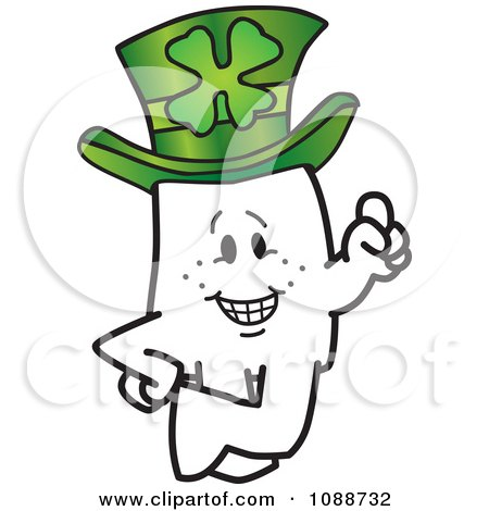 Clipart St Patricks Day Squiggle Guy Leprechaun - Royalty Free Vector Illustration by Toons4Biz