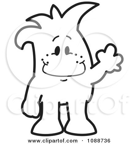 Clipart Waving Squiggle Guy - Royalty Free Vector Illustration by Toons4Biz