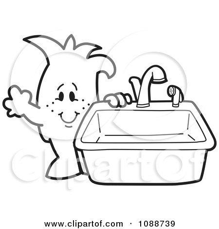 Bathroom Sink Coloring Page Colouring Pages 2
